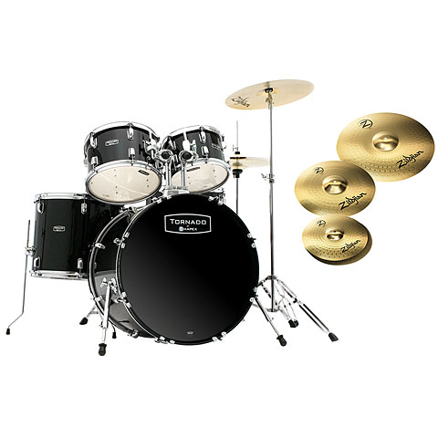 "Mapex Tornado 22"" Dark Black/Zildjian Bundle"