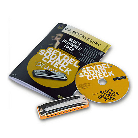 Harmonica Richter C.A. Seydel Söhne Soundcheck V. 1 Steel - Blues Beginner Pack