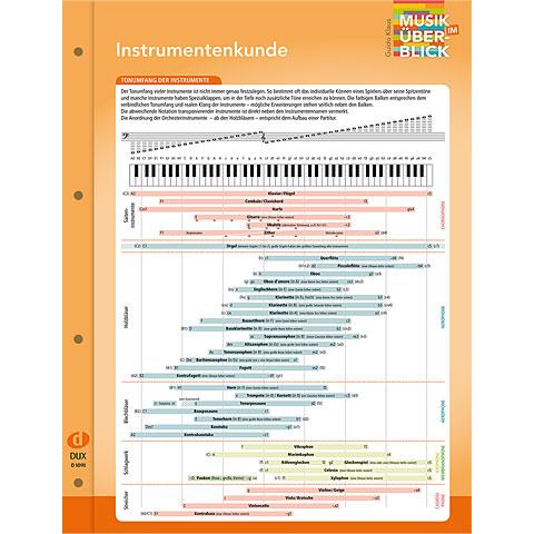 Musiktheorie Dux Instrumentenkunde Musik im Überblick