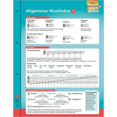 Teoria musical Dux Allgemeine Musiklehre 1 Musik im Überblick