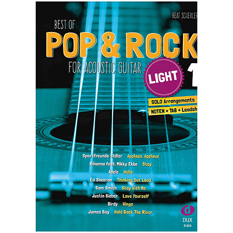 Dux Best of Pop & Rock for Acoustic Guitar light 1