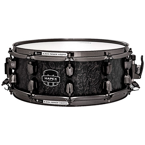 Mapex Saturn V MH Exotic 14  x 5,5  Flat Black Maple Bur