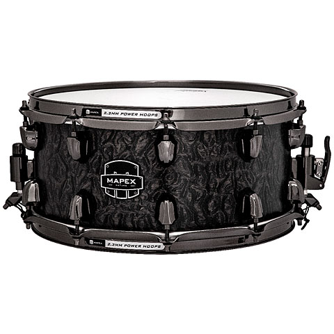 Mapex Saturn V MH Exotic 14  x 6,5  Flat Black Maple Bur