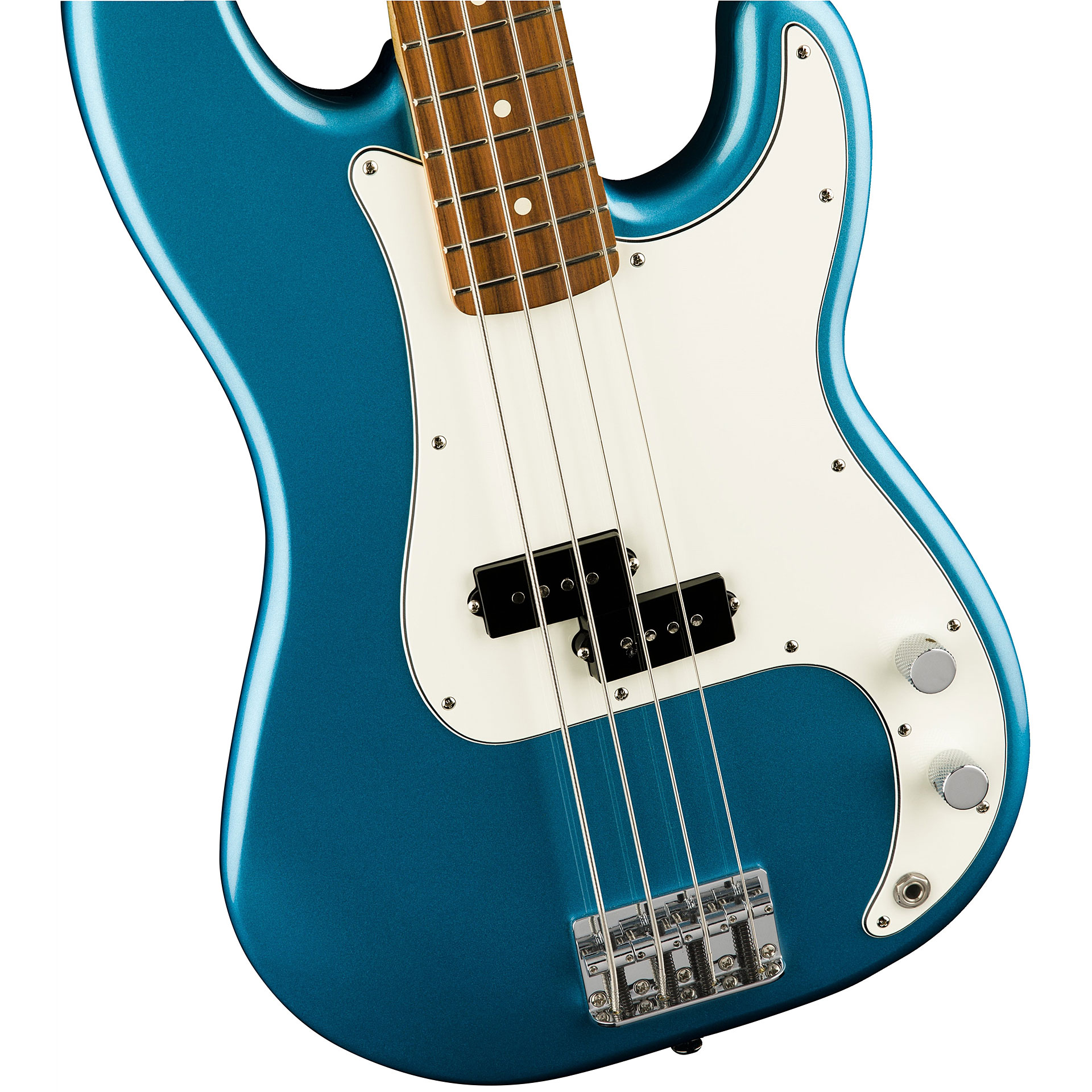 Electric Bass Guitar Fender Standard Precision PF Lake Placid Blue 4