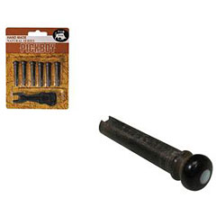 Pickboy Bridge Pins Horn mit Dot (6 Stck) inkl. Extractor