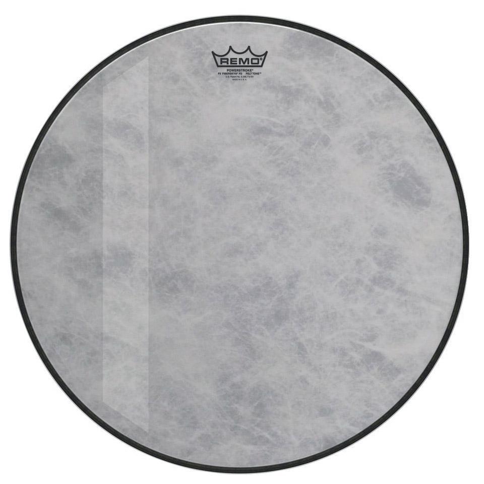 remo powerstroke 3 fiberskyn felt tone 24 bass drum he bass drum head. Black Bedroom Furniture Sets. Home Design Ideas