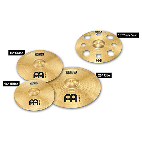 meinl hcs trash cymbal set cymbal set musik produktiv. Black Bedroom Furniture Sets. Home Design Ideas