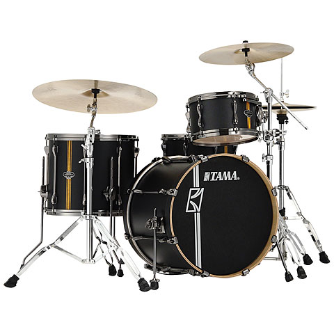 Tama Superstar 20  Flat Black Vertical Stripe LTD