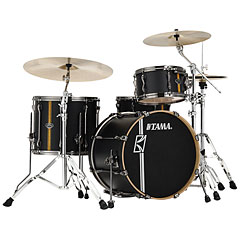 "Tama Superstar Custom 20"" Flat Black Vertical Stripe LTD « Batterie acoustique"