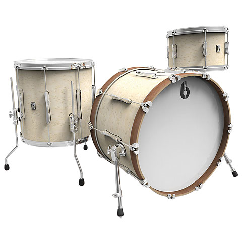 "Batterie acoustique British Drum Co. British Drum Co. Lounge 20"" Wiltshire White"