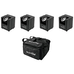 Eurolite Set 4x AKKU UP-1 + SB-4 Soft-Bag « projecteur sur batterie