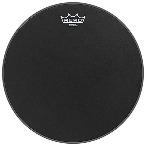 "Bass-Drum-Fell Remo Emperor Black Suede 16"" Bass Drum Head"