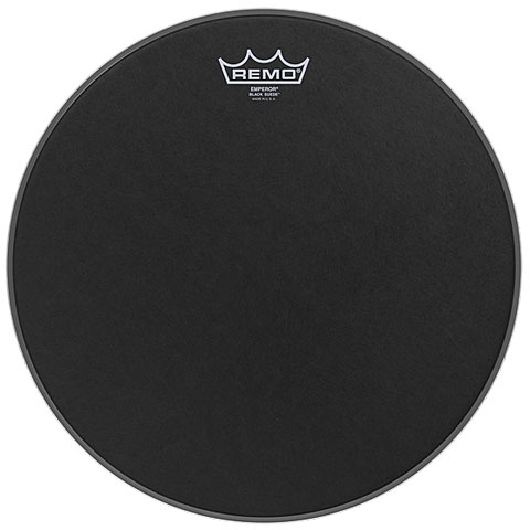 "Bass-Drum-Fell Remo Emperor Black Suede 18"" Bass Drum Head"