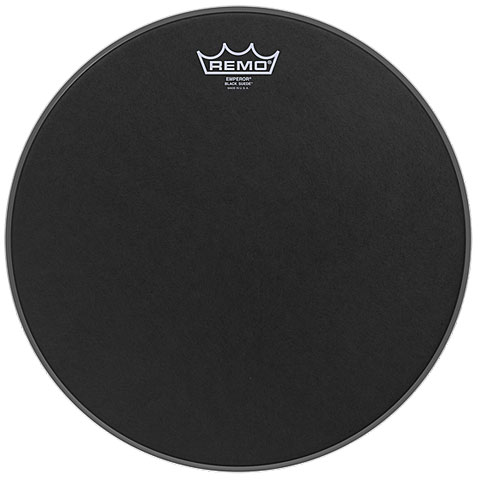 "Remo Emperor Black Suede 22"" Bass Drum Head"