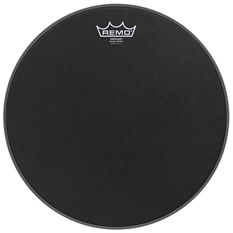 "Bass-Drum-Fell Remo Emperor Black Suede 24"" Bass Drum Head"