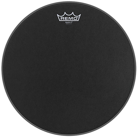 "Remo Emperor X Black Suede 13"" Snare Head Black Dot"