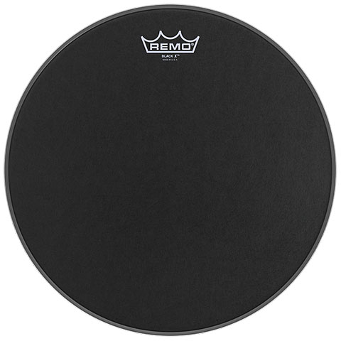 Remo Emperor X Black Suede 14  Snare Head Black Dot