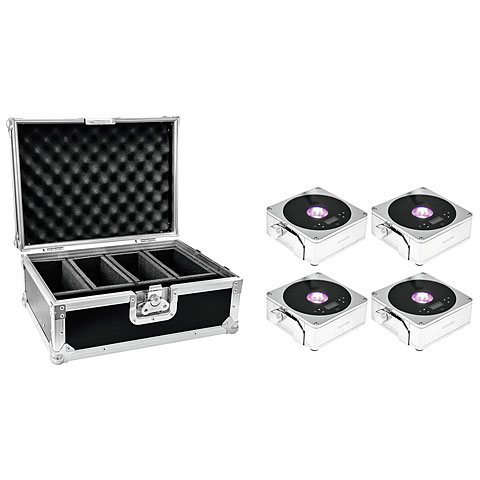 Eurolite Set 4x AKKU Flat Light 1 cr + Case