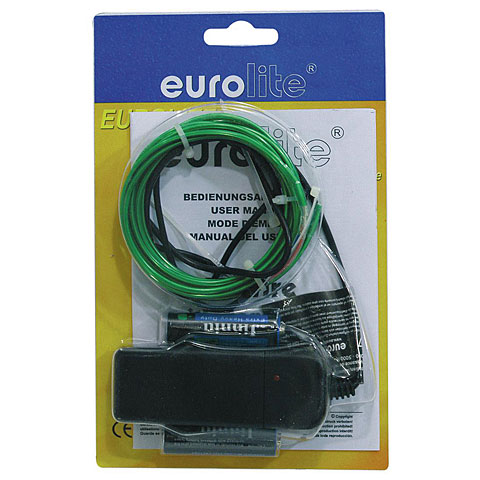 Eurolite EL-Schnur 2 mm, 2 m, grün
