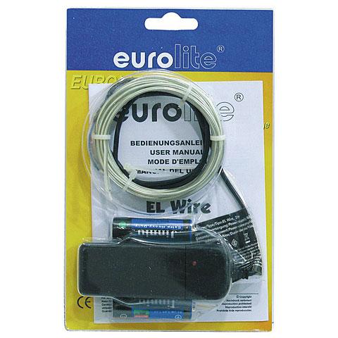 Lámpara decorativa Eurolite EL Wire 2 mm, 2 m, light blue