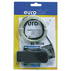 Eurolite EL Wire 2 mm, 2 m, light blue « Lampe décorative
