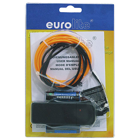 Eurolite EL-Schnur 2 mm, 2 m, orange