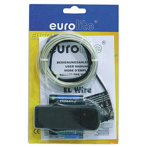 Lámpara decorativa Eurolite EL Wire 2 mm, 2 m, white, 6400 K