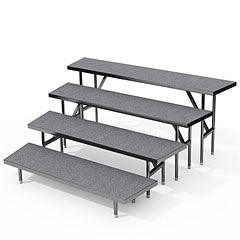 Intellistage 4 Tier Wedged Choral Risers « Stage Platform
