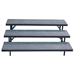 Intellistage 3 Tier Straight Choral Risers - Riser Connections Not Included « Stage Platform