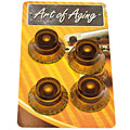 Bouton potentiomètre Crazyparts Art of Aging Amber Tophats, Aged 4x
