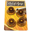 Κουμπί διακόπτου κιθάρας Crazyparts Art of Aging Amber Tophats, Aged 4x