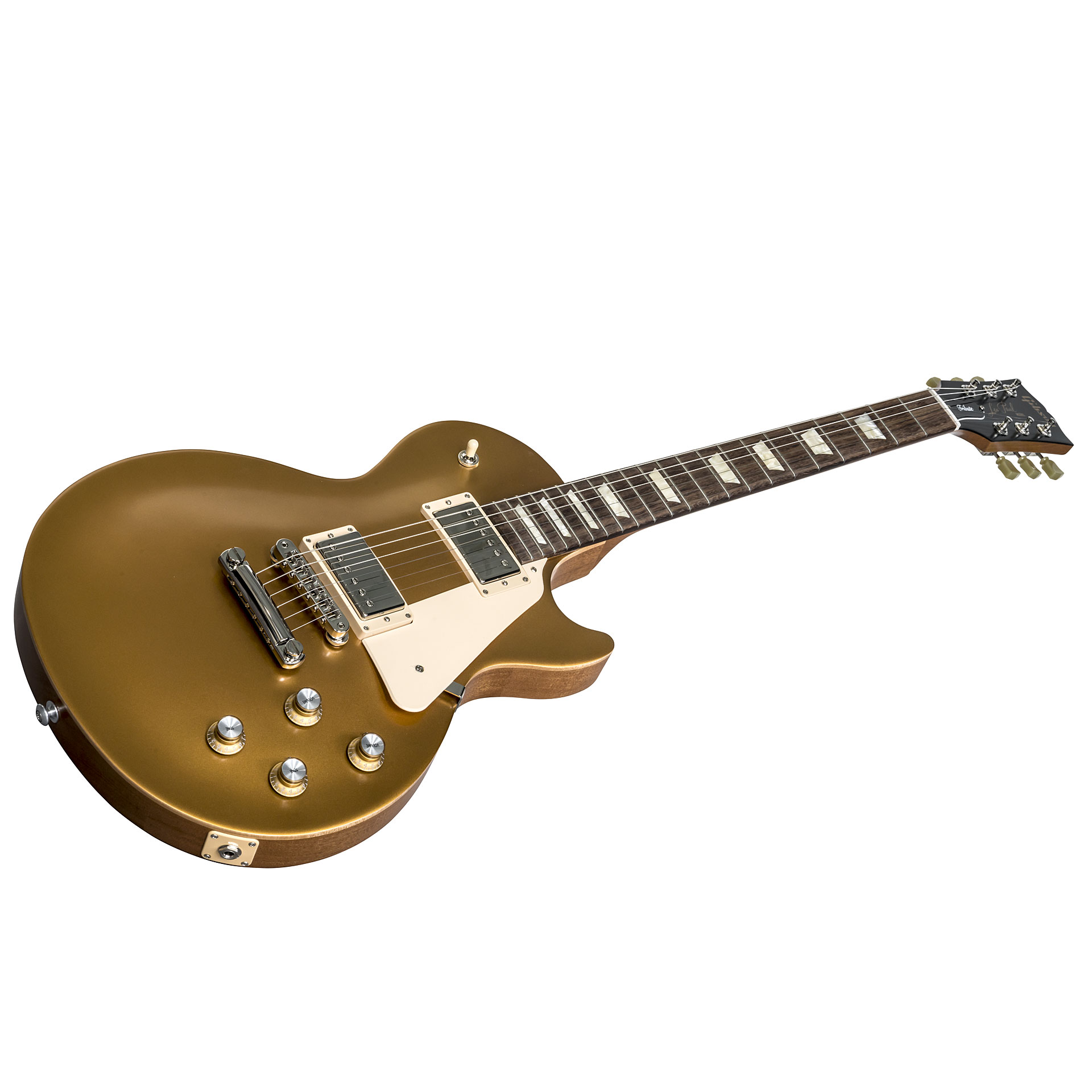 gibson les paul tribute 2018 satin gold elektrische gitaar. Black Bedroom Furniture Sets. Home Design Ideas