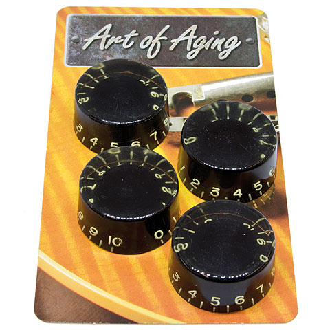 Crazyparts Art of Aging Aged Black 50s Speedknobs 4x