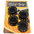 Bouton potentiomètre Crazyparts Art of Aging Aged Black 50s Speedknobs 4x
