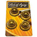 Bottone per potenziometro Crazyparts Art of Aging Tophats Aged Gold Premium 4x