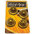 Bouton potentiomètre Crazyparts Art of Aging Tophats Aged Gold Premium 4x