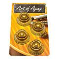 Botón potenciómetro Crazyparts Art of Aging Tophats, Gold, Aged, Standard 4x