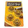 Pot Knob Crazyparts Art of Aging Tophats, Gold, Aged, Standard 4x