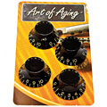 Bouton potentiomètre Crazyparts Art of Aging Tophats, Black, Aged, 4x