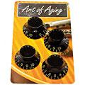 Botón potenciómetro Crazyparts Art of Aging Tophats, Black, Aged, 4x