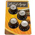 Bottone per potenziometro Crazyparts Art of Aging '60s Reflectorheads Black, Aged 4x