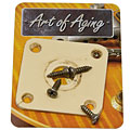Crazyparts Art of Aging '50s Jackplate, Ivory, Rounded « Plaque pour input-jack