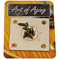Plaque pour input-jack Crazyparts Art of Aging '50s Jackplate, Bone White