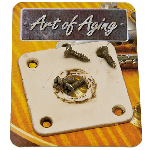 Crazyparts Art of Aging '50s Jackplate, Bone White, Rounded