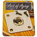 Input-jack plate Crazyparts Art of Aging '50s Jackplate, Bone White, Rounded