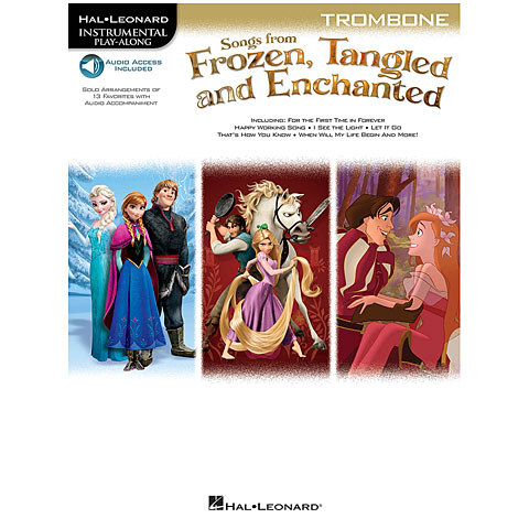Play-Along Hal Leonard Songs from Frozen, Tangled and Enchanted for Tromb