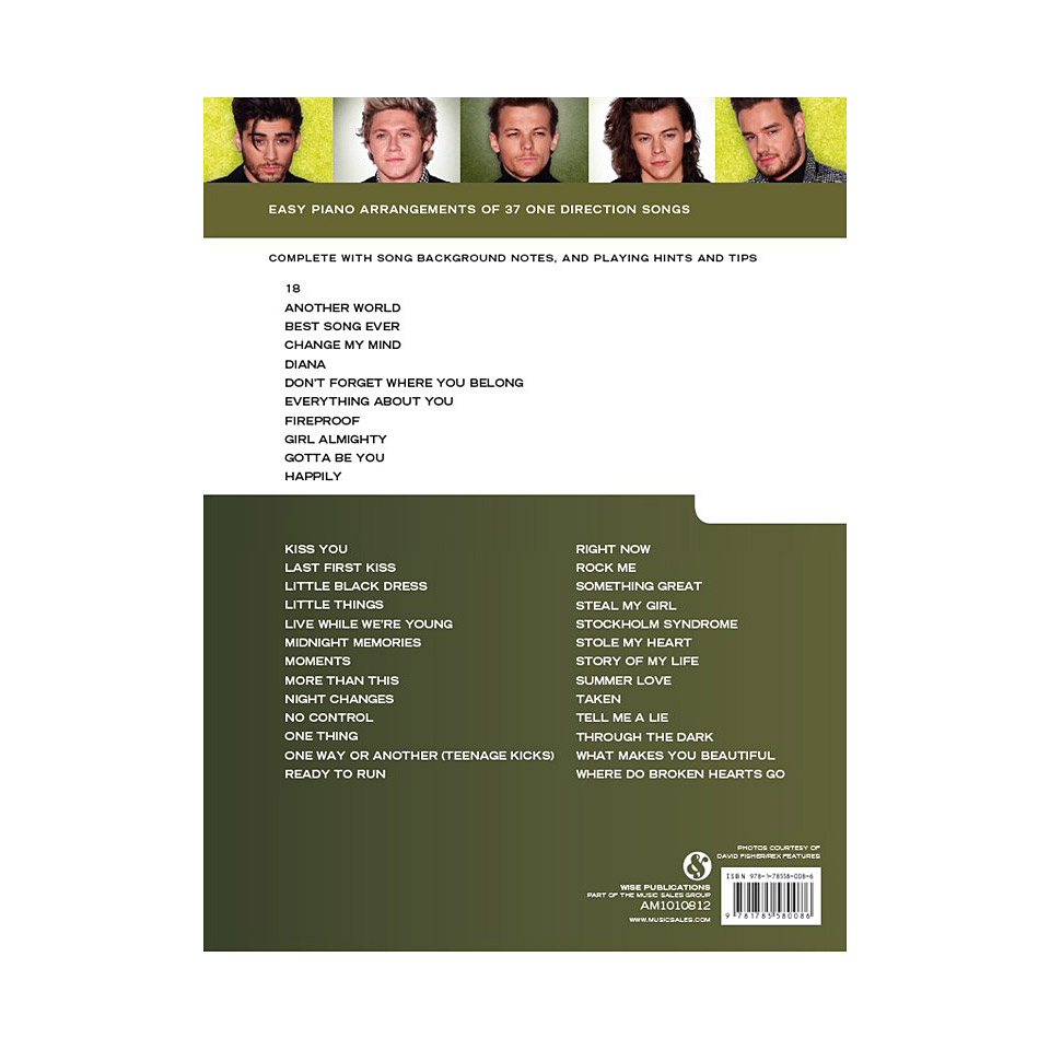 Music Sales Really Easy Piano - The Big One Direction Songbook - 37 One  Direction Songs