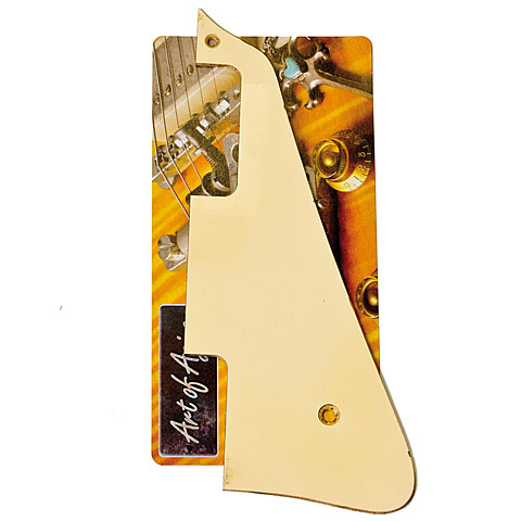 Pickguard Crazyparts Art of Aging Pickguard Cream/Ivory P90