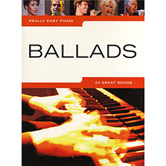 Music Sales Really Easy Piano - Ballads - 24 Great Songs « Recueil de Partitions