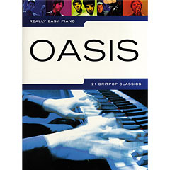 Music Sales Really Easy Piano - Oasis - 21 Britpop Classics « Recueil de Partitions
